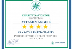 Vitamin Angels Receives Another 4-Star Rating from Charity Navigator