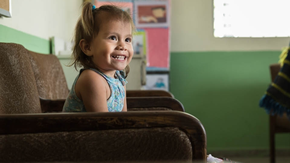 Though she was born premature, Heimy is healthy now and loves to play with dolls, pretend to shop, and run to her heart's content.